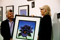 Scott Gorham - launch of Black Rose anniversary fine art print